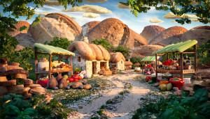 пейзажи из еды