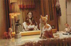 отражение в зеркале.